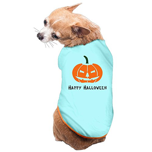Vgd Happy Halloween art logo SkyBlue Cute Dog Coat