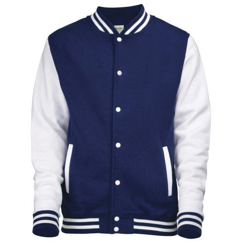 Shirt Blanc Bleu Varsity Awdis Marine Jacket Sweat Homme wantBHq