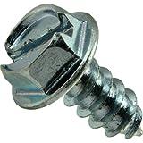 Hard-to-Find Fastener 014973265397 Slotted Hex Washer Sheet Metal Screws, 8 x 3/8, Piece-100