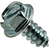 Hard-to-Find Fastener 014973265397 Slotted Hex Washer Sheet Metal Screws, 8 x 3/8, Piece-100
