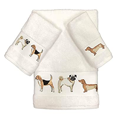 "Avanti Dogs On Parade Bath Towel - Cotton 27"" x 50"" Machine washable - bathroom-linens, bathroom, bath-towels - 41vO si5sfL. SS400  -"