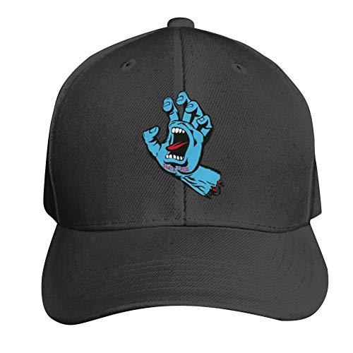 SKKELLY Santa Cruz Unisex Peaked Cap Classic Cotton Adjustable Snap Back Baseball Hat Black