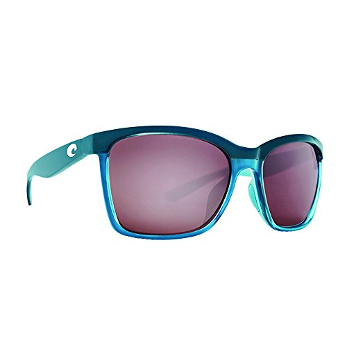 Costa Del Mar ANA152OSCP Anaa Sunglass, Sea Glass Ocearch Silver - Playa Sunglasses Costa