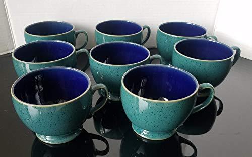 Denby Harlequin Breakfast Cup Set Of 8 Blue/Green