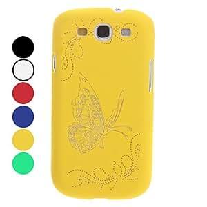 GONGXI- Caso duro del patrón de mariposa noctilucentes para Samsung Galaxy S3 I9300 (colores surtidos) , Amarillo