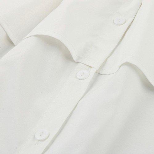 FNKDOR Mujeres Plaid Off Blusa de manga larga superior de la manga  Tops Casual Mujer Camiseta Blanco