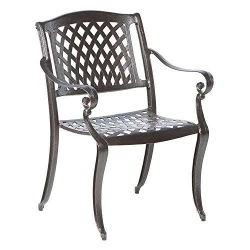 (Alfresco Home 56-1308 Westbury Cast Aluminum Dining Chairs, Set of 4)