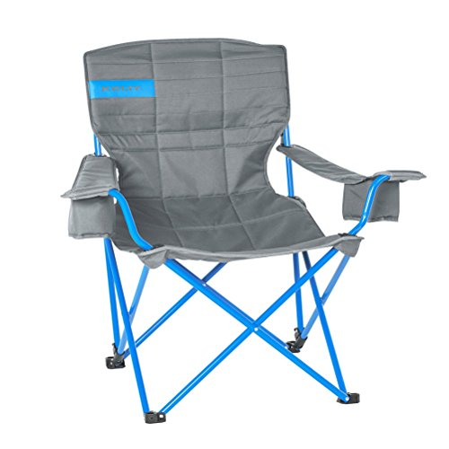 Kelty Deluxe Reclining Lounge Chair, Smoke Paradise Blue Folding Camp Chair for Festivals, Camping and Beach Days