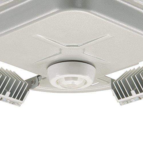 Lumark QDCAST1A Quadcast LED Parking Garage/Canopy Light, 56W, Hinged Door, Universal Mounting Plate, 4 LED Optical Panels, 120-277V, 4000 K, Concrete Grey by Lumark