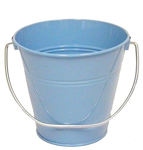 ITALIA 10416 5.5 x 6 In. Light Blue Metal Bucket - 6 Pack