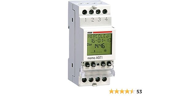 Gris Claro Vemer Vj79720000/Interruptor te-200/Temporizador Luces escaleras electr/ónico de Barra DIN