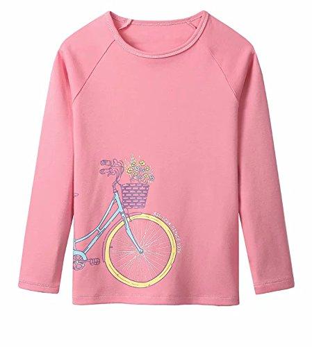 sports shoes 02ccf 4313f T Shirt a Maniche Lunghe per Ragazza - T Shirt di Cotone ...