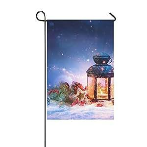 Custom mágico farol de nieve con decoración navideña Patio jardín bandera 12x 18pulgadas