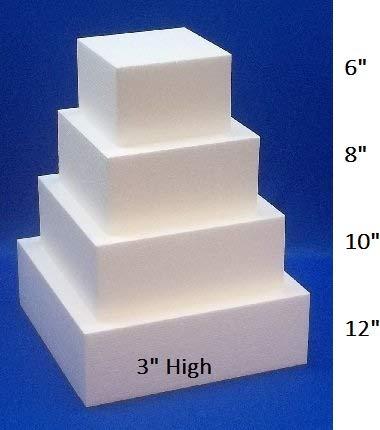 - Oasis Supply FK S3x681012 Fake Dummy Cake Set expanded polystyrene foam