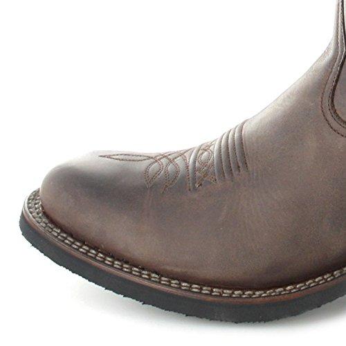 Stivali Sendra 11615 Stivali In Pelle Evolutiva Tang Per Donna E Uomo Stivali Western Western Da Equitazione Cioccolato