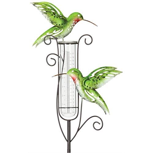 Capri Rain Gauge Hummingbird Garden Stake