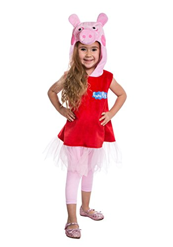 Peppa Pig Ballerina Costume Small (4-6) Red