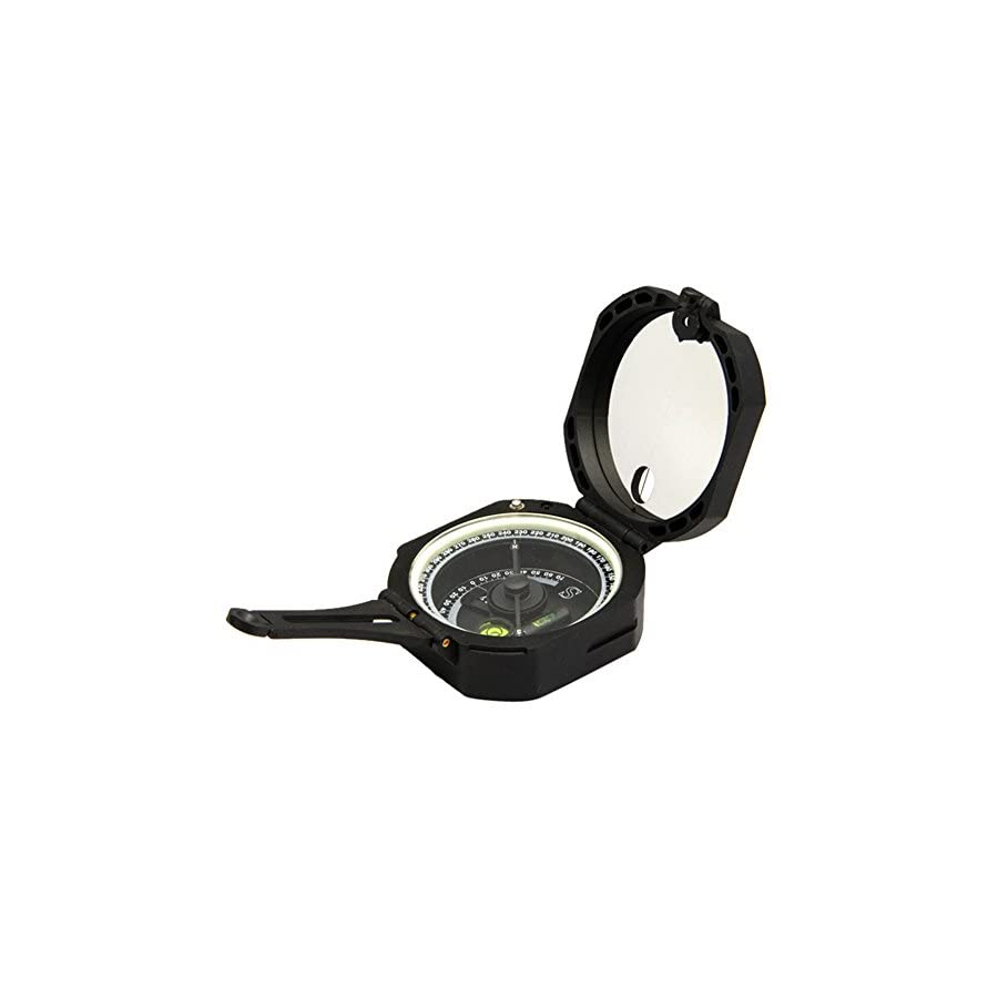 Ueasy Lightweight and Durable Transit Pocket Plastic Compass for Surveyors Foresters Military Green