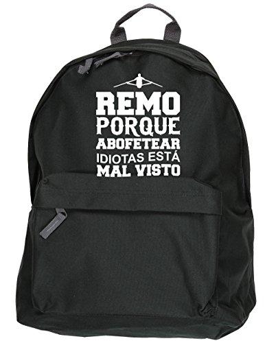 HippoWarehouse Remo Porque Abofetear Idiotas Está Mal Visto kit mochila Dimensiones: 31 x 42 x 21 cm Capacidad: 18 litros Negro