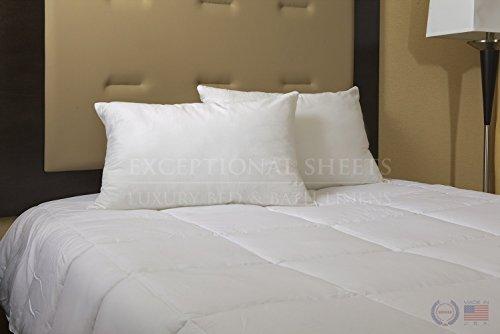 Overfilled Down Alternative Back / Side Sleeper Pillow - Hypoallergenic Fill - 100% Cotton Ticking, Standard