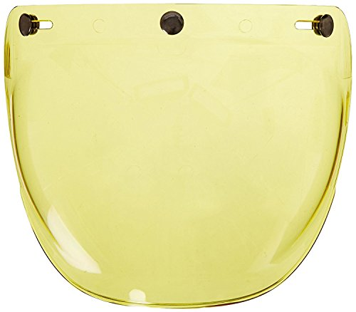 TORC T50 Route 66 Motorcycle Helmet Bubble Shield With Anti-Scratch/Fog (Yellow) (Route 66 Visor)