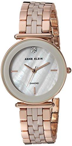(Anne Klein Women's Quartz Metal and Ceramic Dress Watch, Color:Grey)