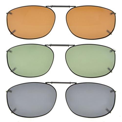 6fea53df88 70% OFF Eyekepper Gris/Marrón/G15 Lens 3-Pack clip-en gafas de sol ...