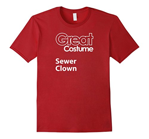 Mens Funny Halloween Costume, Sewer Clown, Costume Ideas, Generic Large (Clown Costume Ideas)