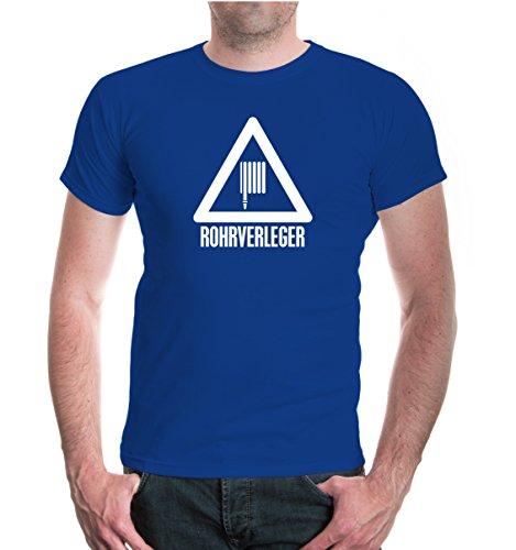 T-Shirt Rohrverleger-XXXL-Royal-White