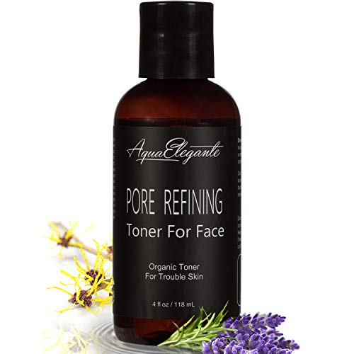 Pore Refining Toner For Face - Organic Facial Wash To Calm Oily Skin With Natural Antioxidants & Vitamins - Hydrating Skincare Serum Best For Acne Reducer And Pore Minimizer