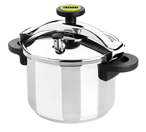 Monix Classica – Olla a presión tradicional de 6 litros, acero inoxidable, 22 cm, color gris
