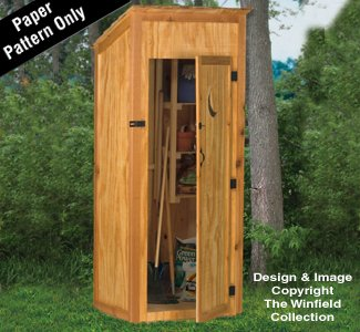 Outhouse Tool Shed Wood Project Plan by The Winfield Collection