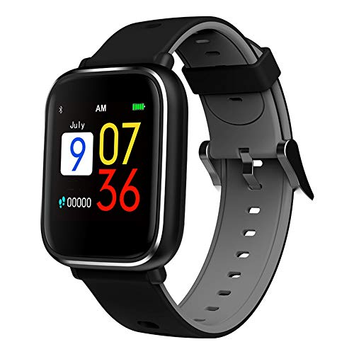 JAY-LONG Smart Sports Watch, Fitness Tracker, 1.3 Inch Touch Screen, Heart Rate Blood Pressure Monitoring, Message Push, Call Reminder, Multi-Sport Mode, 200MAH,Gray