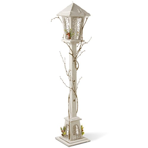 Indoor Lamp Post (47-inch White Wood Decortative Country Inspired Street Lamp Post)