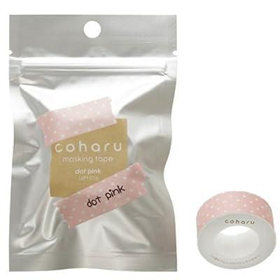 KING JIM Dot Pink, coharu masking tape; for label printer TEPRA Lite