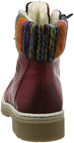 wine Bottes Femme Rouge multi orange Y9432 Rieker x6IZwqx