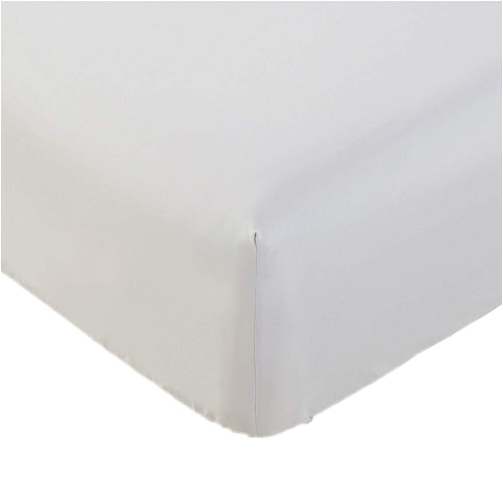 Mellanni Fitted Sheet Full White - Brushed Microfiber 1800 Bedding - Wrinkle, Fade, Stain Resistant - Hypoallergenic - 1 Fitted Sheet Only (Full, White)