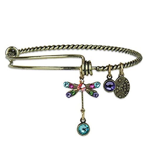 Anne Koplik Dragonfly Inspire Charm Bangle Bracelet Anne Koplik Jewelry