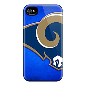 Shock Absorbent Hard Phone Cases For Iphone 6plus (oXi20334VGsR) Allow Personal Design Realistic St. Louis Rams Image