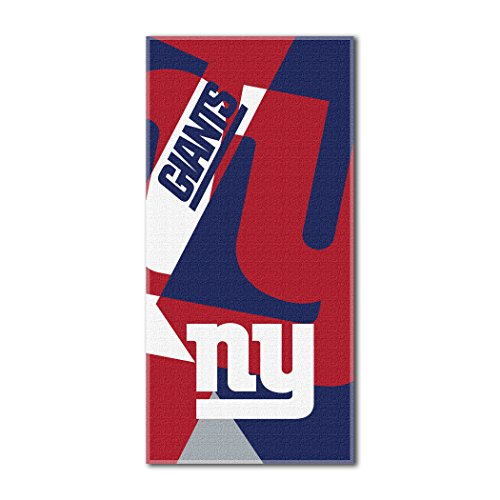 The Northwest Company Officially Licensed NFL New York Giants Puzzle Beach Towel, 34