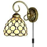 Kiven Plug-in Tiffany Style Wall Lamp 5.9 in Wide