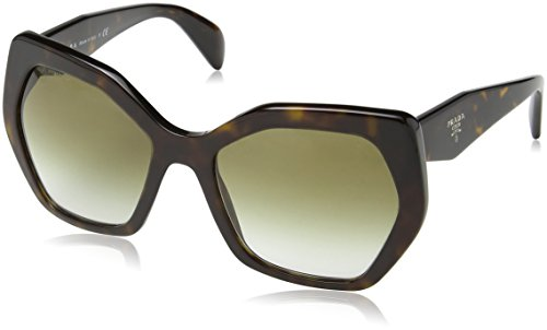 - Prada Women's PR 16RS Designer Sunglasses, Havana/Brown