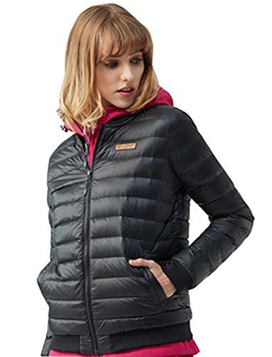 Women's Jacket Quilted Collar Ultralight Baseball Black Dilize with adPqaR