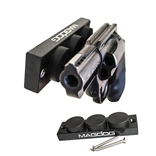 - MAGDOG Gun Magnet 48 Lbs Rating - Magnetic Gun Mount for Pistols and Shotguns | Pistol Magnet Works as a Car Holster and Bedside Holster | Conceal or Display Firearms in Home Office Vehicle and Safe