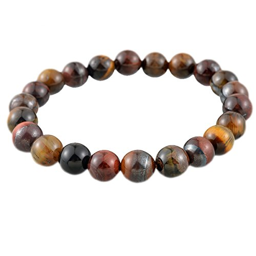 8mm Tiger Eye Gem Stone Beads Tibetan Buddhist Prayer Mala Bracelet