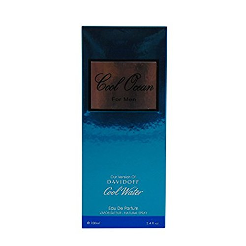 COOL OCEAN,Our Version of COOL WATER BY DAVIDOFF, 3.4 fl.oz. Eau De Toilette Spray for Men, Perfect Gift