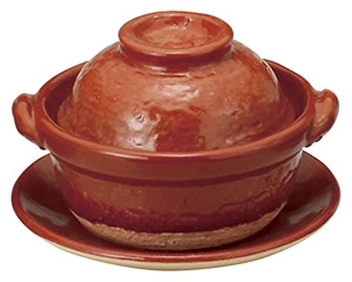 Akaraku for 1person 5.9inch Donabe Japanese Hot pot Brown Ceramic Made in Japan by Watou.asia
