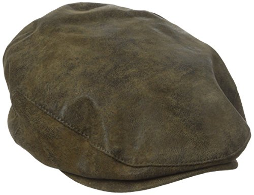 Stetson Men's Weathered Leather Ivy Cap, Brown, X-Large (Dorfman Pacific Ivy)