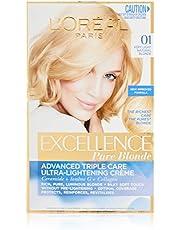L'Oréal Paris Excellence Permanent Hair Colour - 01 Very Light Natural Blonde (100% Grey Coverage)