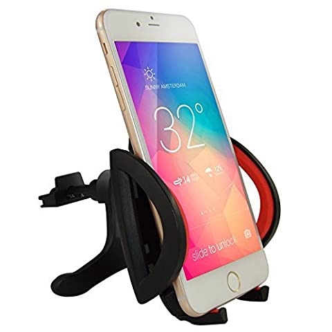 Car Mount, KAMIIStand UniversalAir Vent Magnetic Universal Car Mount Holder for iPhone 6S/6, Galaxy S6/S6 Edge, LG G4, Apple iPhone 5S 5C 5 4S, Samsung Galaxy S5 S4, Nexus 5X, HTC M9 (Support (5c Of Mice And Men Case)